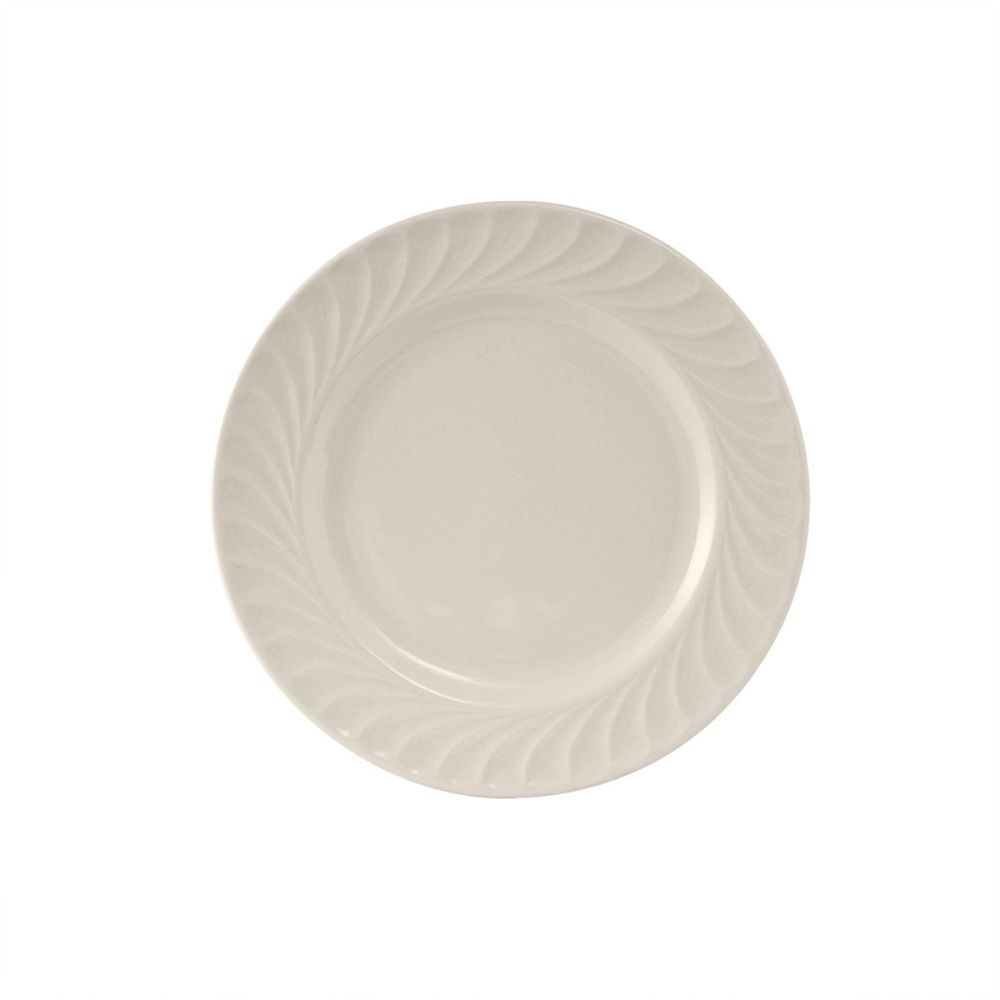 Meridian 5 5 8 Inch Plate Embossed Pattern In Eggshell American White Case Of 36 Tags Dessert Plate Meridian Porcela Plates Egg Shells Porcelain Dinnerware