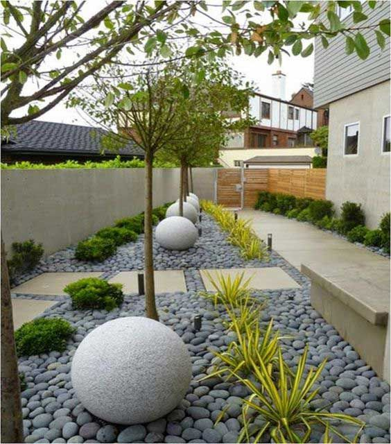 Garden Is An Important Place Making You Relaxed Comfortable And Offering A Chance To To S Modern Backyard Landscaping Modern Landscaping Low Water Landscaping
