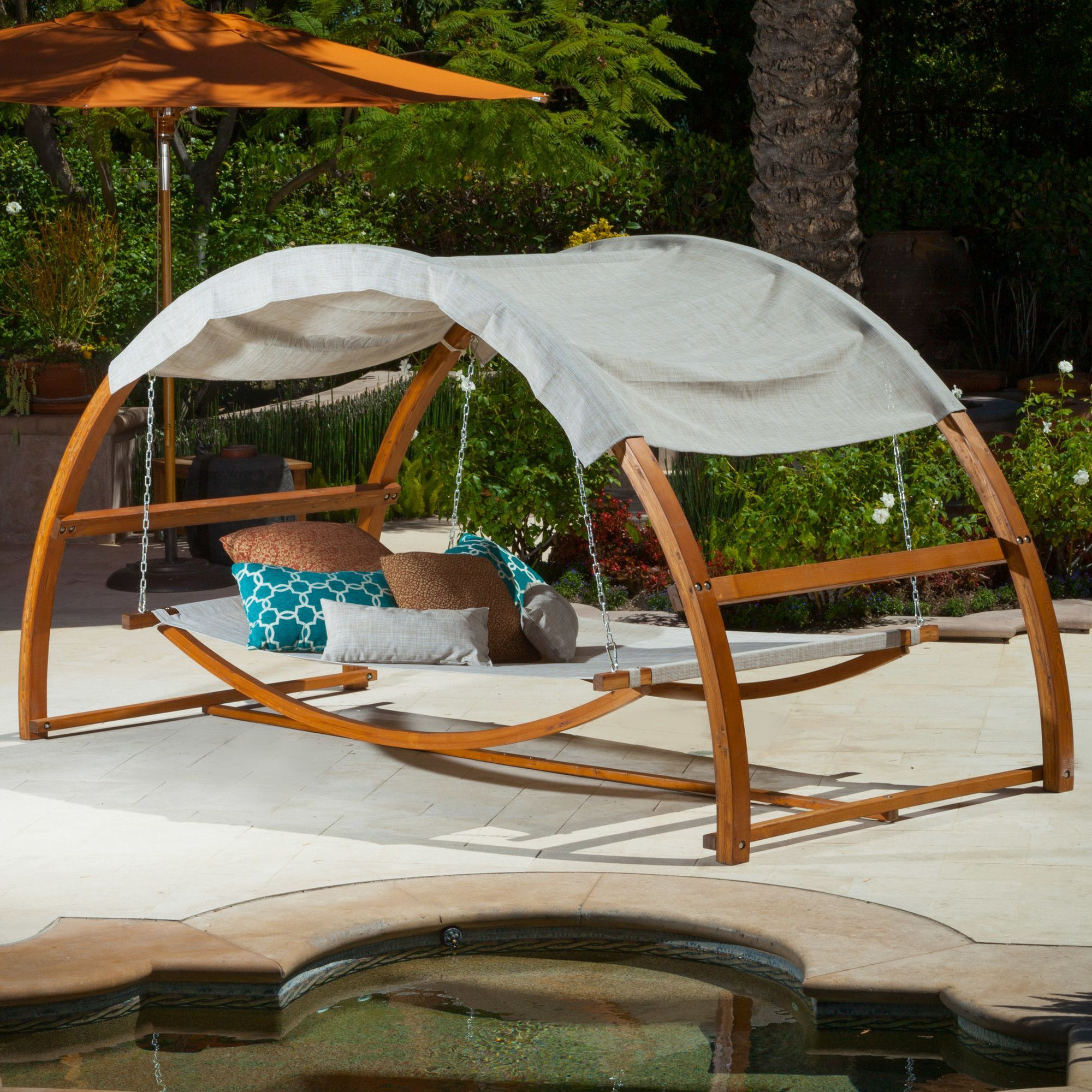 Tonga Swing Canopy Bed on & Claire Hammock with Stand | Products | Pinterest | Swing chairs ...