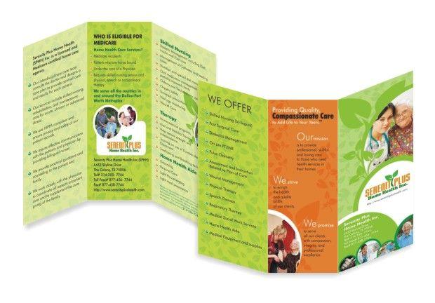 Tri Fold Panel Oldage Home Brochure Brochure Design - 6 panel brochure template
