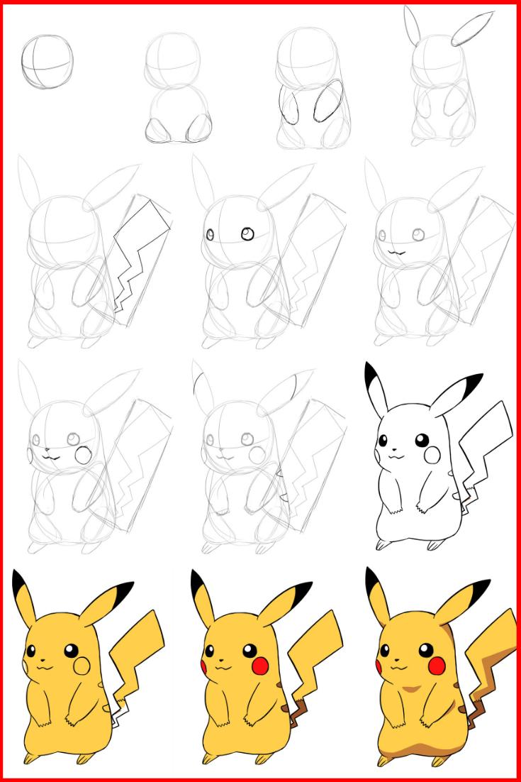 Comment Dessiner Pikachu Dessin Pikachu Comment Dessiner Pikachu Dessin Pokemon