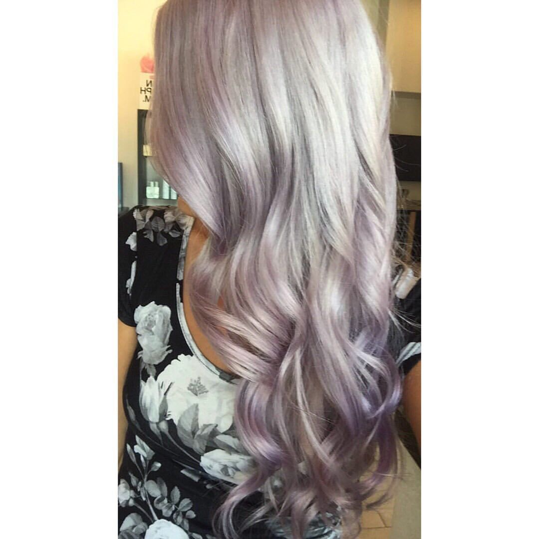 Silver Lilac Icy Blonde Hair By Caitlin Caitlinrocksmylocks On Instagram Silverhair Icyhair Platinumblonde Light Purple Hair Silver Blonde Icy Hair
