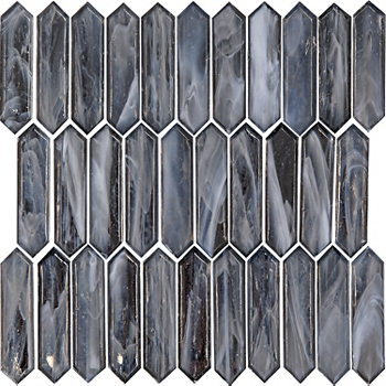 Glass Silver Diamond Mosaic Wall Tile 1 X 3 5 In The Tile Shop Mosaic Wall Tiles Mosaic Bathroom Tile Mosaic Wall