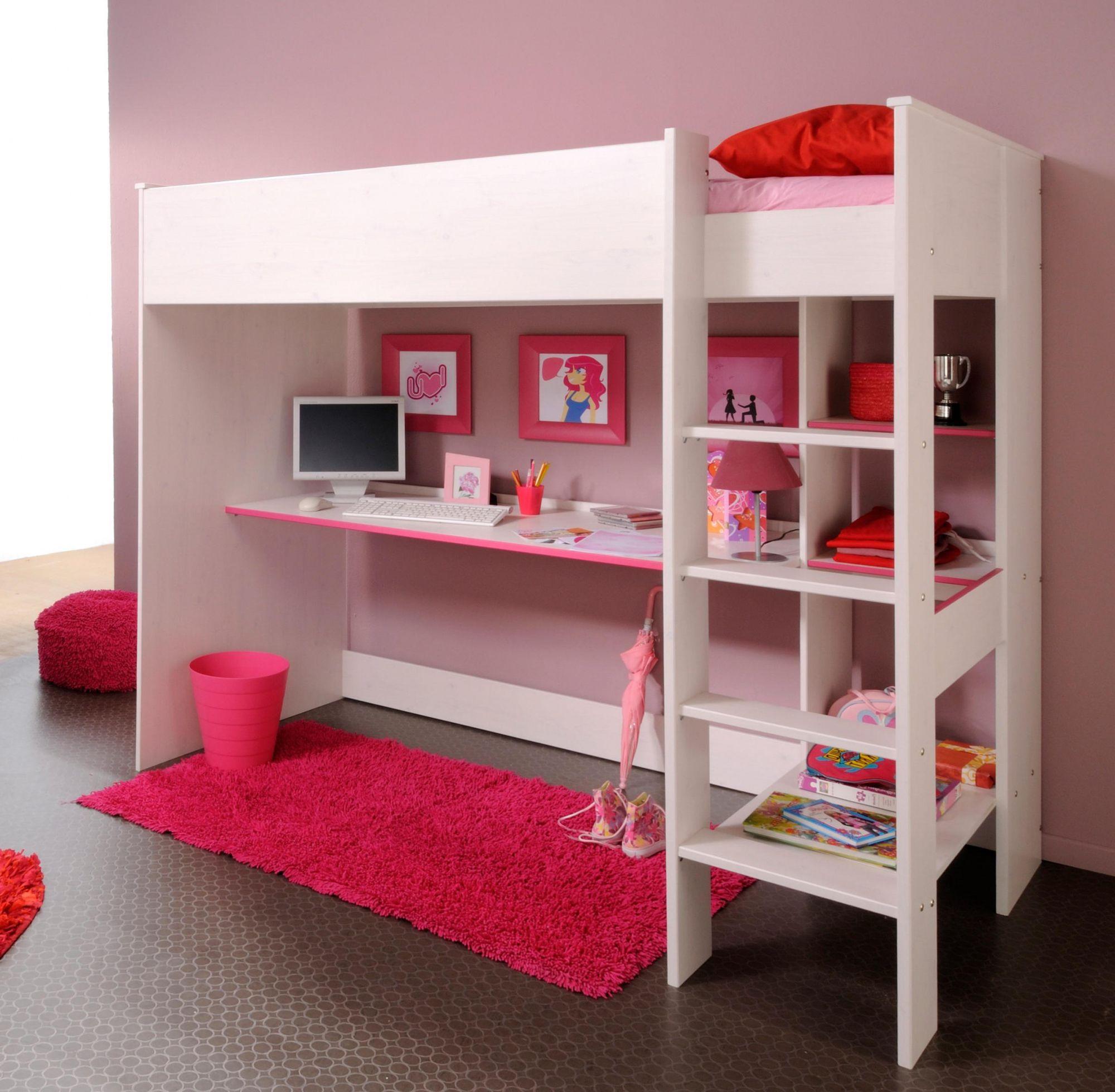 Loft Bed With Desk Underneath Ikea Diy Corner Desk Ideas Check More At Http Www Gameintown Com Loft Bed Bunk Bed With Desk Ikea Bunk Bed Girls Bedroom Sets