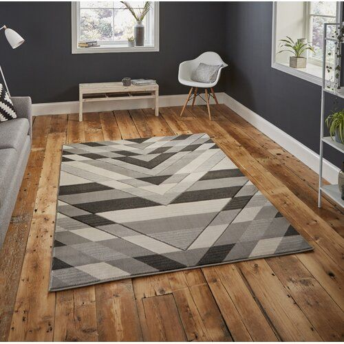 Hand Grey Rug George Oliver Rug Size Rectangle 160 X 220cm Grey Geometric Rug Modern Rugs Grey Rugs