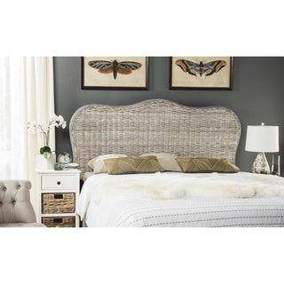 Shop For Safavieh Imelda White Washed Headboard (Queen). Get Free Delivery  At Overstock