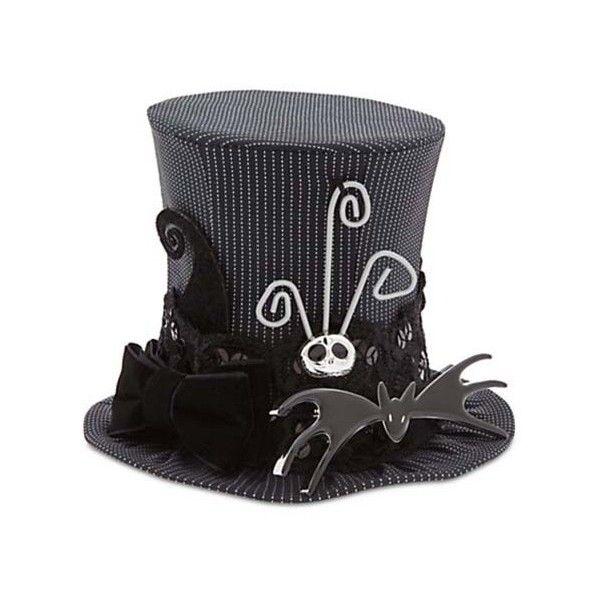 b2b8f1333df63 Disney Mini Top Hat Nightmare before Christmas Jack Skellington ( 40) ❤  liked on Polyvore featuring disney