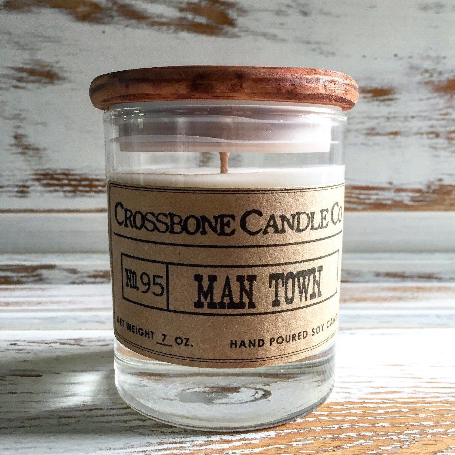 No. 95 MAN TOWN by CrossboneCandle on Etsy https://www.etsy.com/listing/249183998/no-95-man-town
