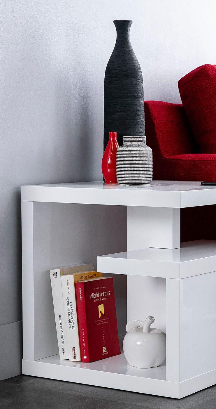 Table D Appoint Design Laquee Blanche Halton Miliboo Table D Appoint Design Chambre Design Design