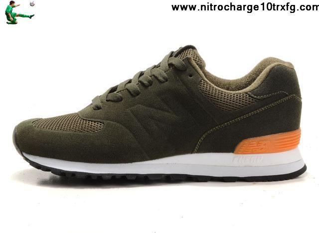 Buy New New Balance NB MS574GC Sonic blackish Green Orange For Men shoes