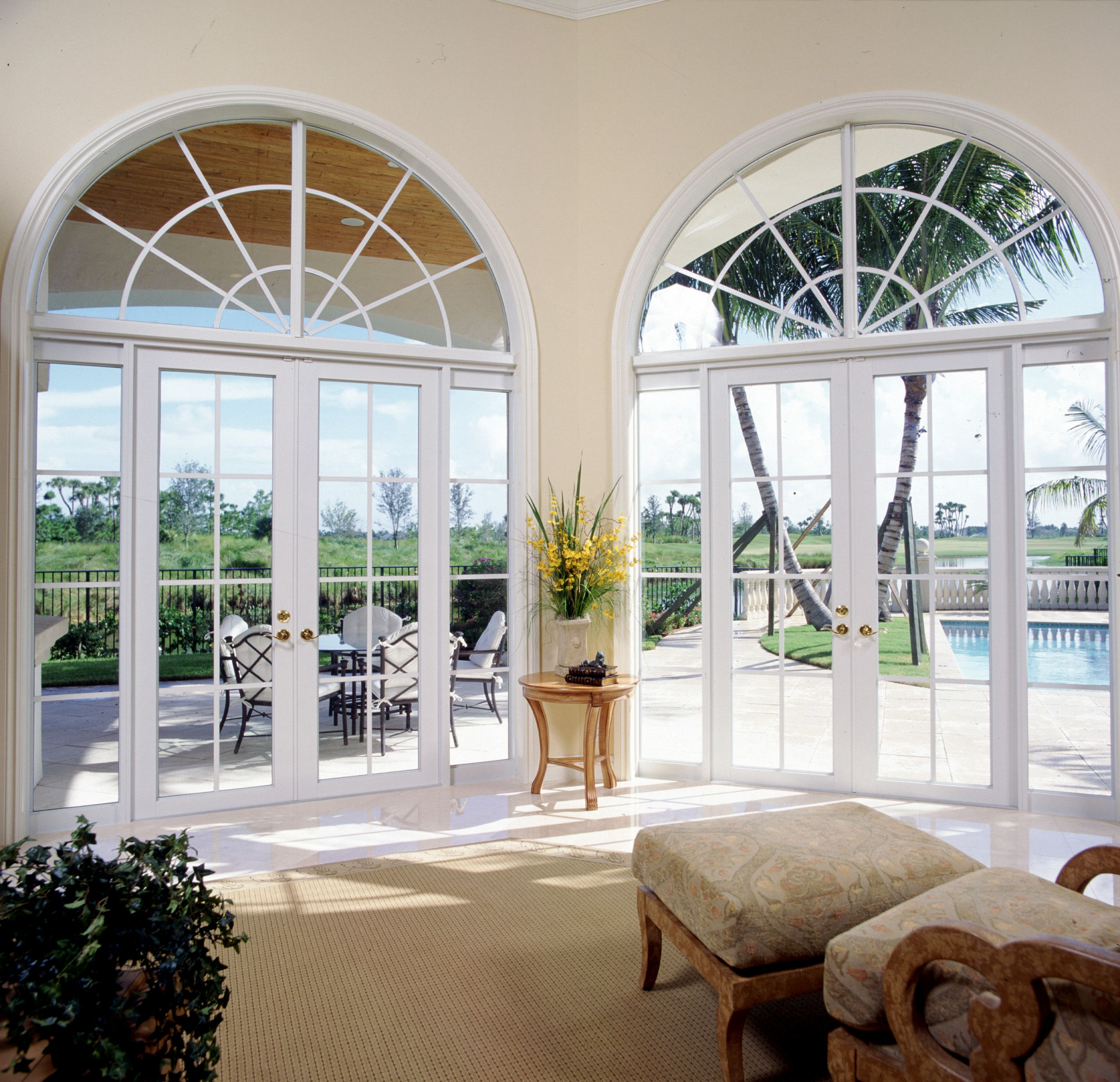 Amazing French Doors that let in TONS of light. And as a plus, they ...