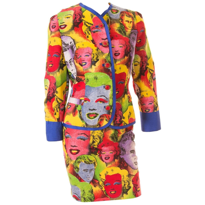 Important Gianni Versace S/S 1991 Warhol Monroe Print Suit 1