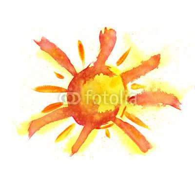 Watercolor Sun Logo Inspiration Sunshine Tattoo Sun Tattoo