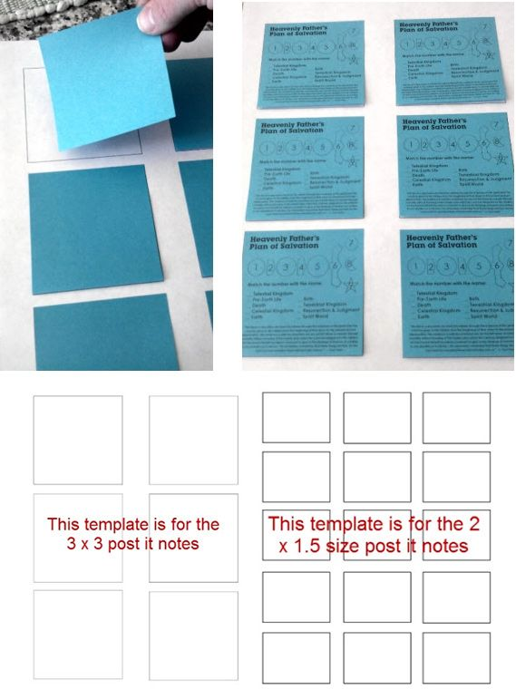 Post-It Note Template for Printing onto Post-Its Free PDF - free note template