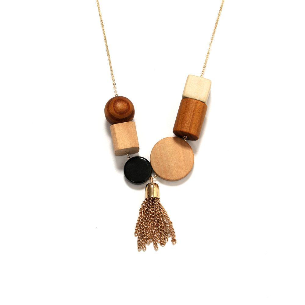 2017 fashion women new jewelry wholesale geometric elements wood 2017 fashion women new jewelry wholesale geometric elements wood combination pendant necklace long tassel wood necklace aloadofball Gallery