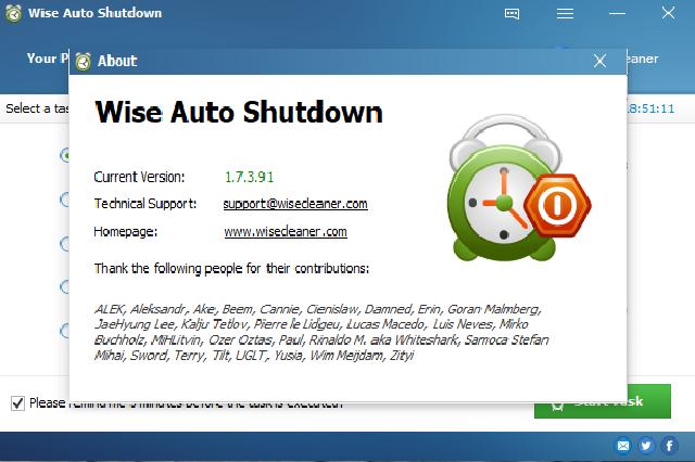تحميل برنامج Wise Auto Shutdown لإيقاف تشغيل جهاز الكمبيوتر بشكل أوتوماتيكي مجانا تحميل برنامج Wise Auto Shutdown لعمل جدولة زمن Supportive Wise Erin