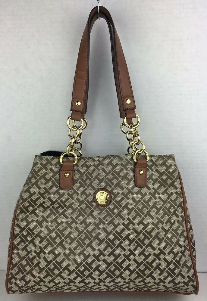 d431588404 TOMMY HILFIGER Shoppers Tote Handbag Shoulder Bag Purse Excellent Ladies Bag  | eBay