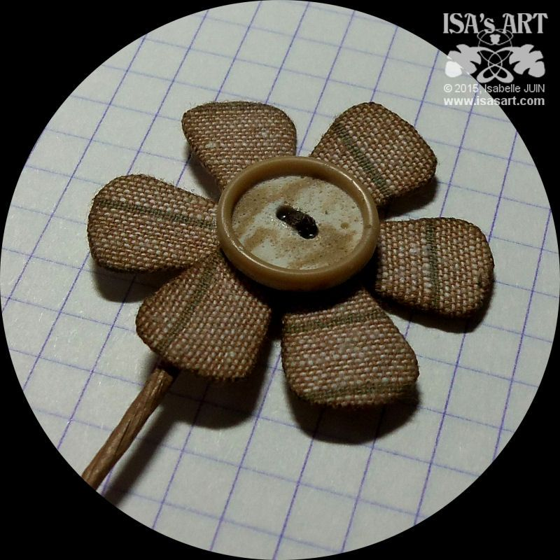 ISA'sART: FLOWER - Pétales cartonnés recouverts de tissu (P121 tuto photo)