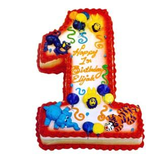 Number 2D Circus Cakes Decorated Age Deerfields Bakery Half