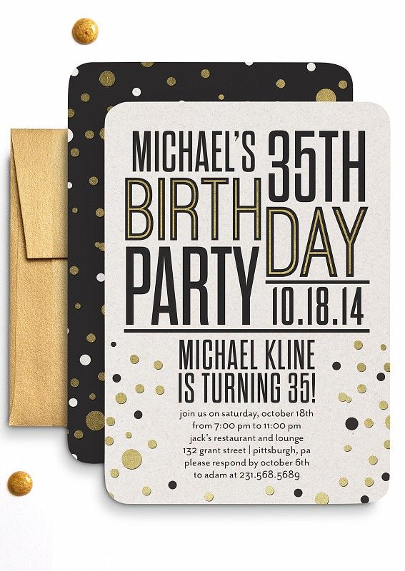 View a variety of chic and trendy adult birthday party invitations