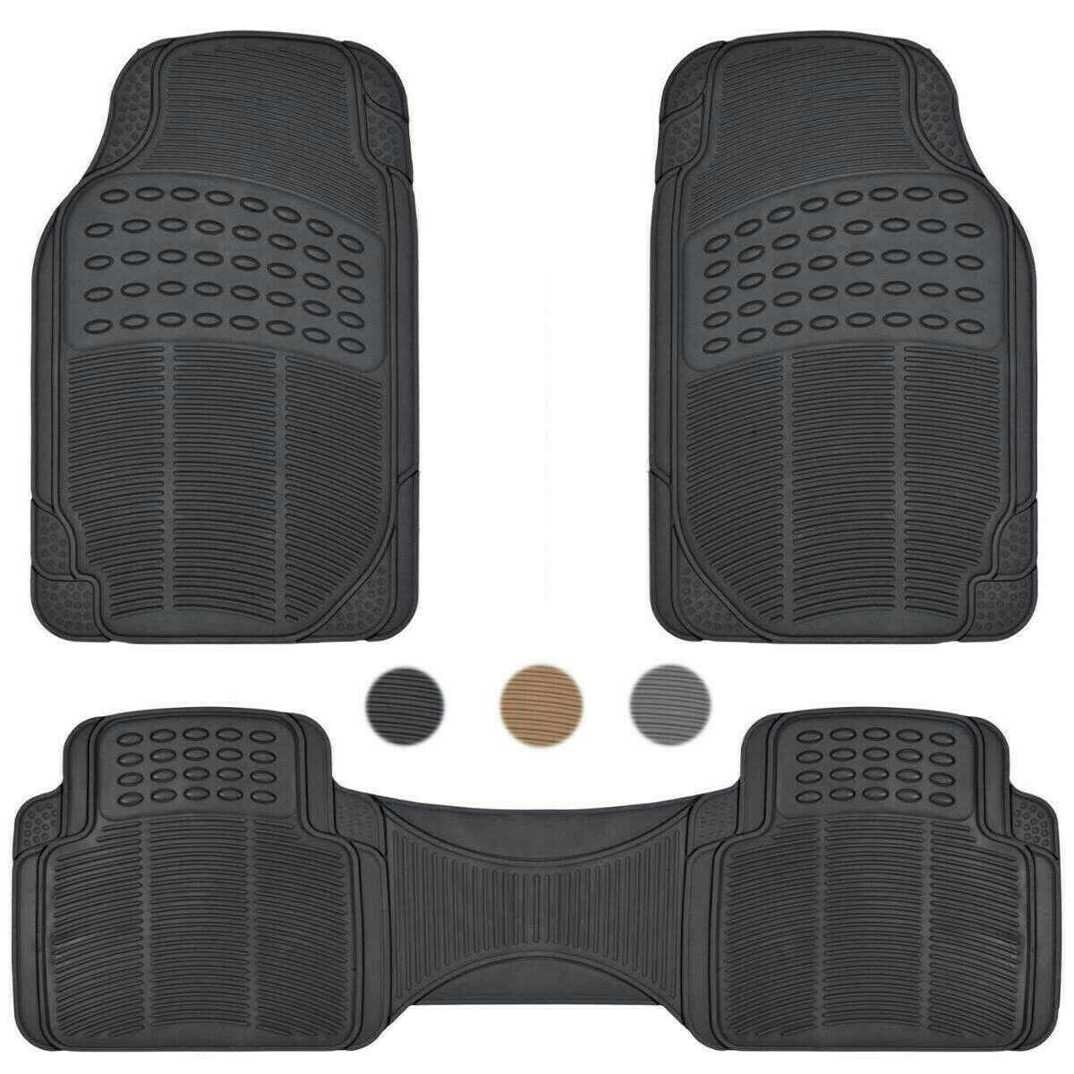 Details about Car Floor Mats for All Weather Rubber Heavy