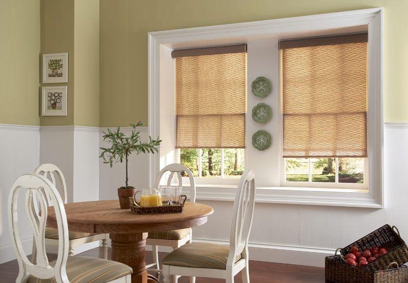 Roller shade breakfast nook kitchen window treatment ideas pinterest window kitchen - Pinterest kitchen window treatments ...