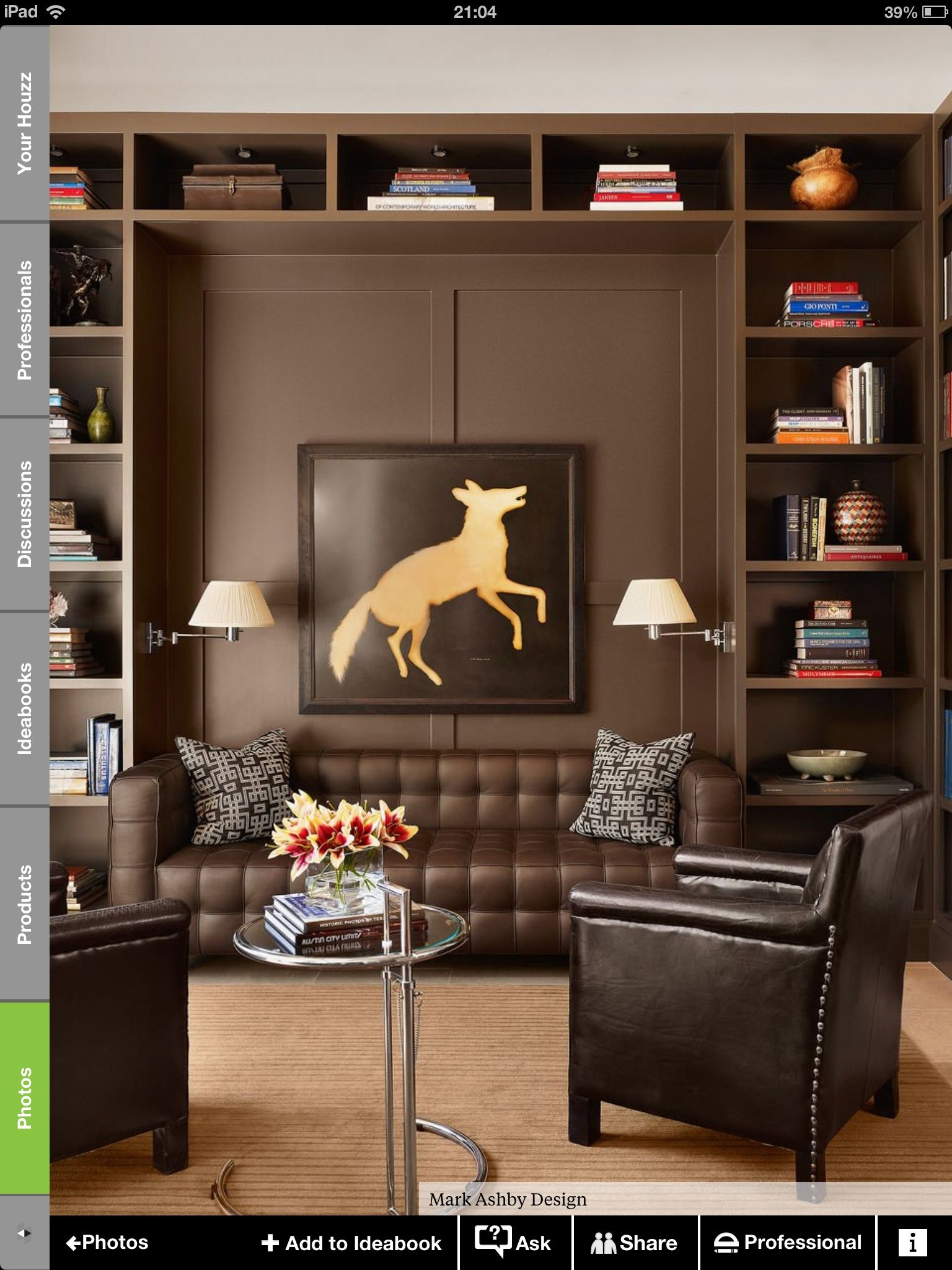 Living Room Like A Library: Pin By Paula Lovell Thompson On Leather #2