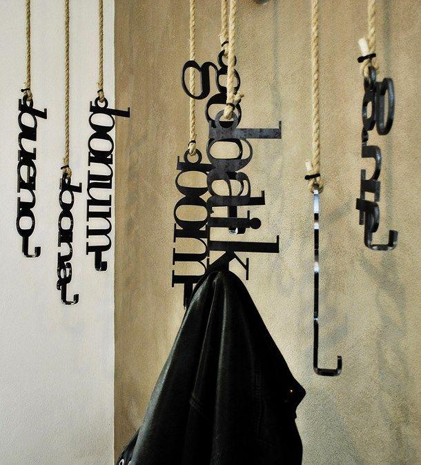 artistic clothes hangers Pizza Art  Restaurant Pizzeria with artistic  decoration