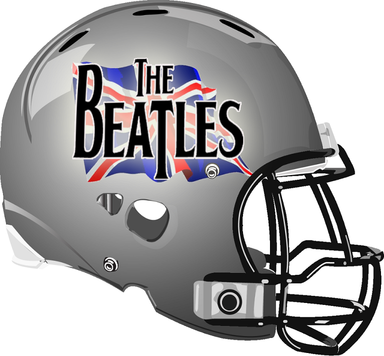 the beatles helmet from a fantasy football league rock and roll rh pinterest com Metal and Punk Band Logos Metal Band Logos Ideas