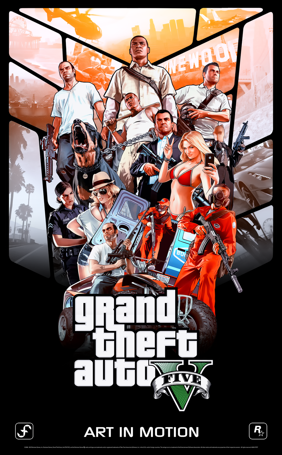 Gta V Poster 200000 Views Celebration By Ferino Design D5m7hqd Png 900 1452 Pixeles Desenho De Gta Posters De Games Personagens De Jogos