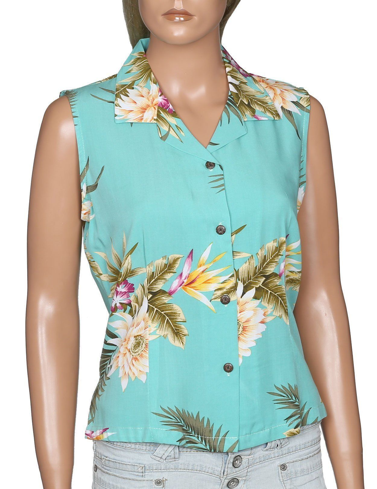 b6b967c4a3c03f Ceres Green - Sleeveless Blouse - 100% Rayon. Find this Pin and more on  Products by All Clothes Hawaiian.