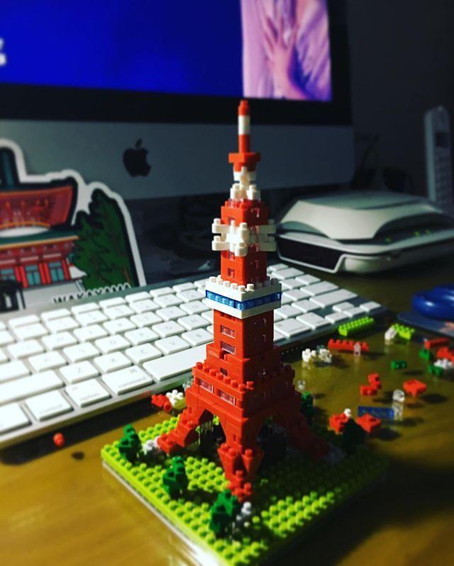 おもしろい(╹◡╹)#東京タワー#nanoblock