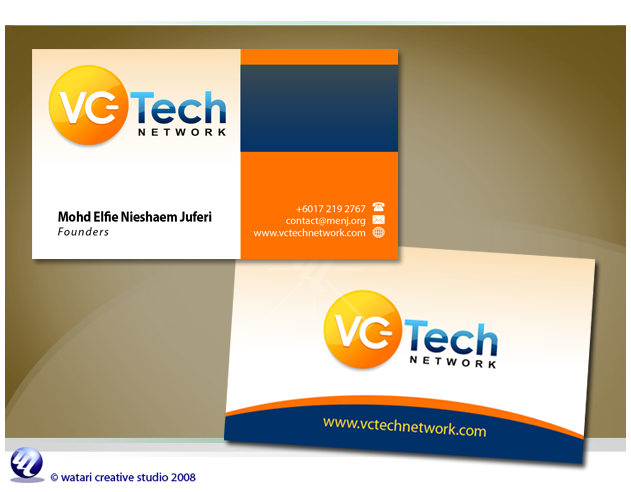 Visiting Card Design For A Technology Company  Best Business