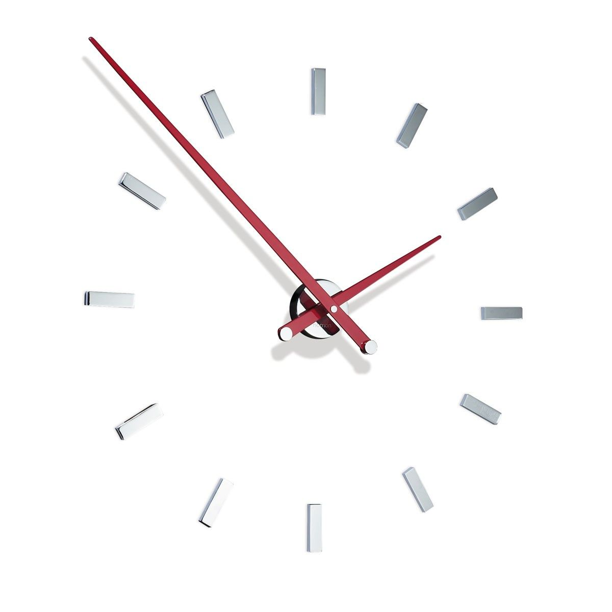 Extraordinary modern high end designer circular red metal wall extraordinary modern high end designer circular red metal wall clock in a stunning chrome finish amipublicfo Image collections