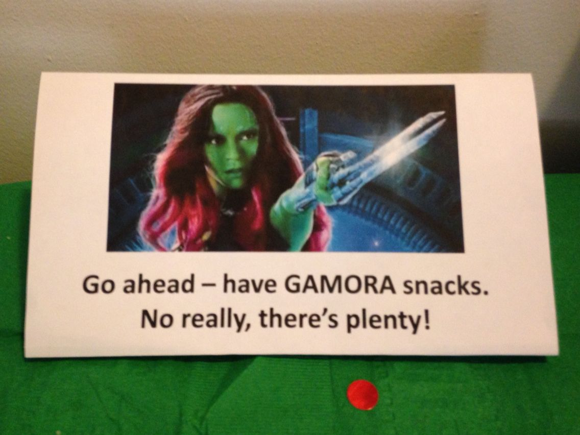 had fun making punny table tent cards with guardians of the galaxy