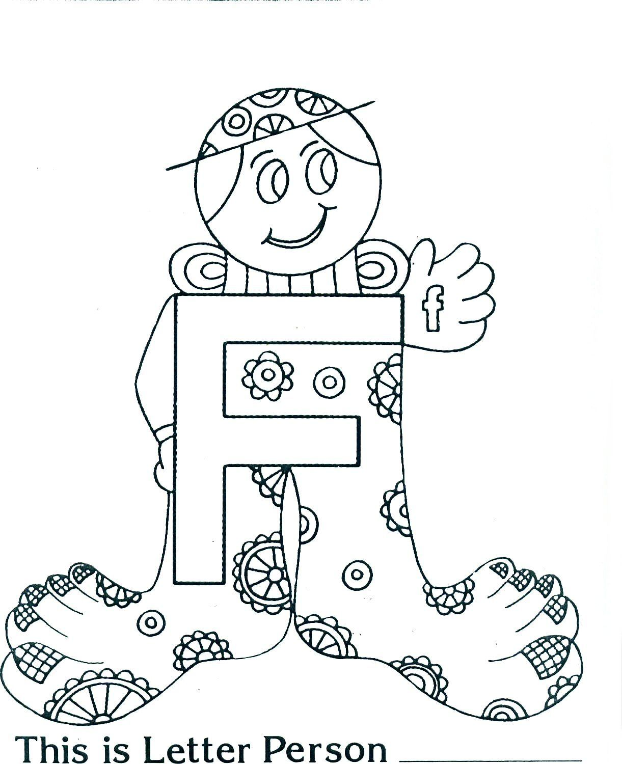 Excellent The Letter People Coloring Pages