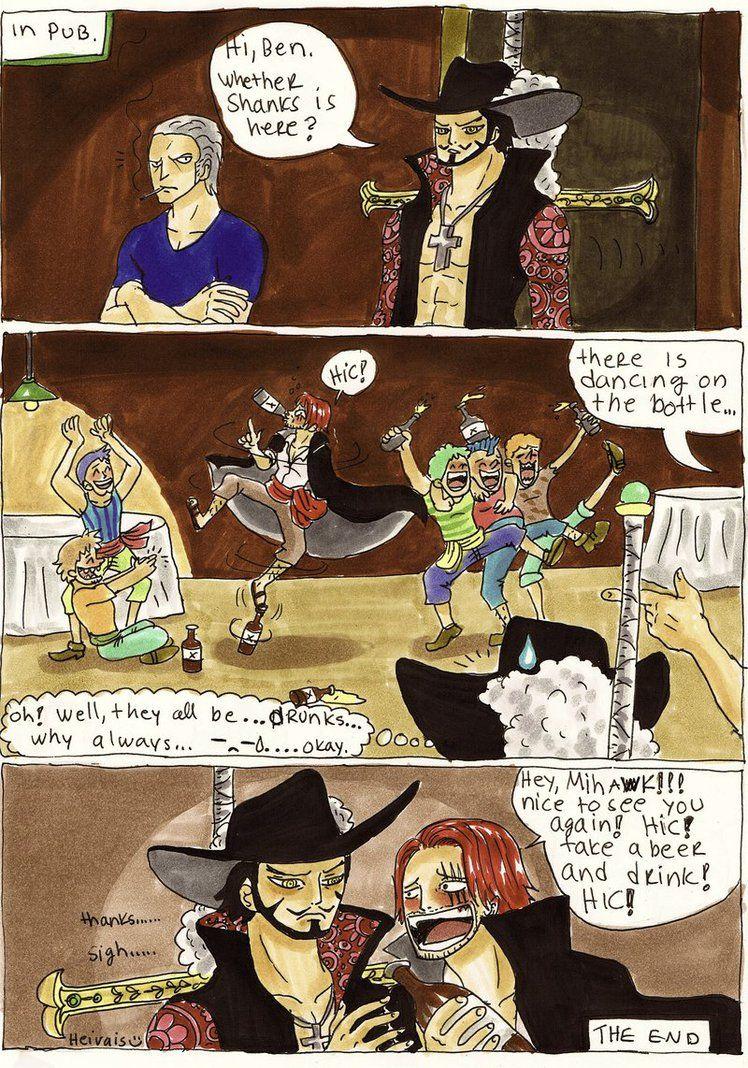 One Piece Mihawk Meet Shanks By Heivais On Deviantart With