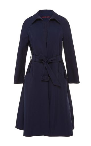 Trench coat with claudine collar by MARTIN GRANT for Preorder on Moda Operandi