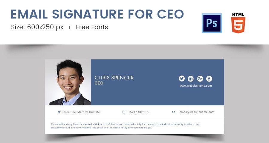 Email Signature for CEO   email signature   Email signatures