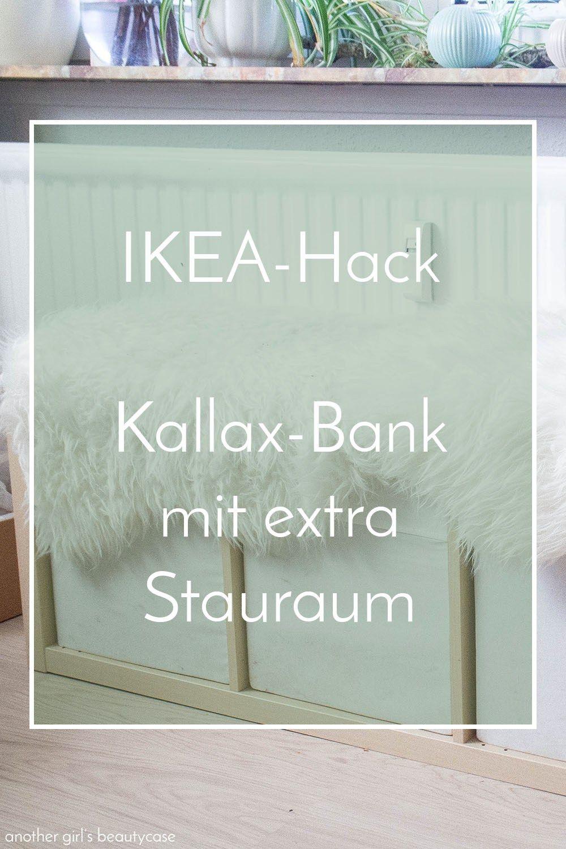Bank Stauraum ikea hack sitzbank aus kallax regal kleine wohnung einfache