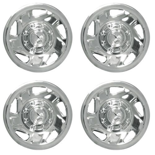 4 Pc Hubcaps Fits Ford Truck Van 16 Chrome Steel Retention Replacement Cover Car Wheels Rims Car Wheel Cover Car Wheels