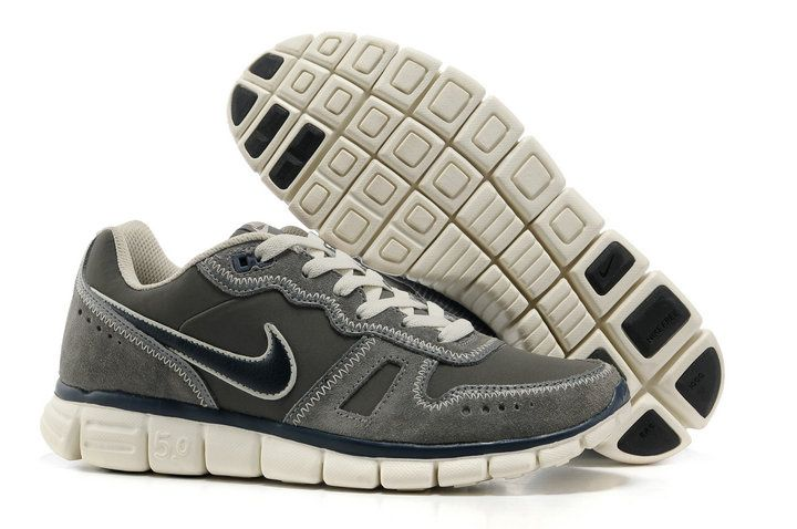 Fake Nike Free Waffle AC Leather Cool Grey Navy Beige 454397