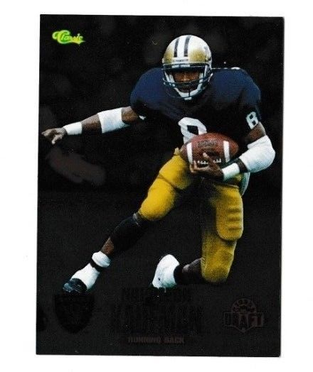 1995 Classic NFL Rookies Silver #18 Napoleon Kaufman - NM-MT Raiders #Classic #OaklandRaiders