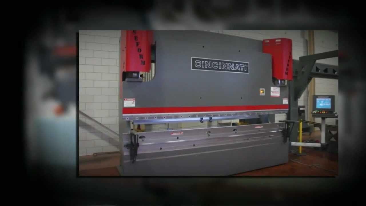Cincinnati baseform series press brake via youtube
