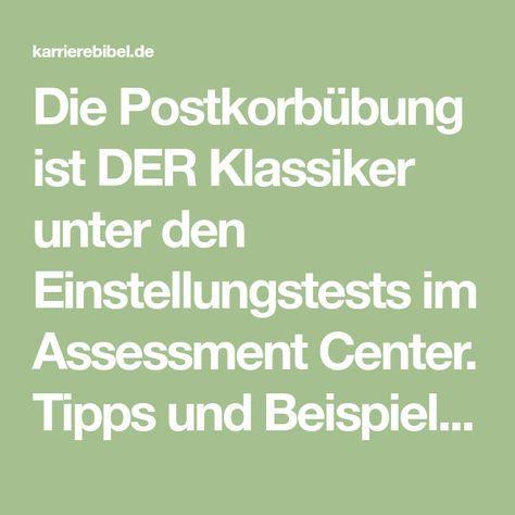 die postkorbbung ist der klassiker unter den einstellungstests im assessment center tipps und beispiele wie - Postkorbubung Beispiel