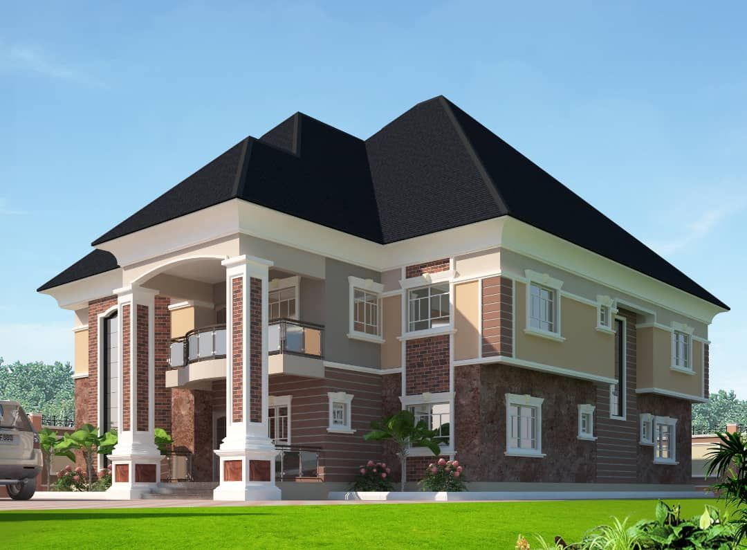 The Making Of The Enugu 6 Bedroom Duplex Properties Nigeria Duplex House Design Duplex Design Architectural Design House Plans