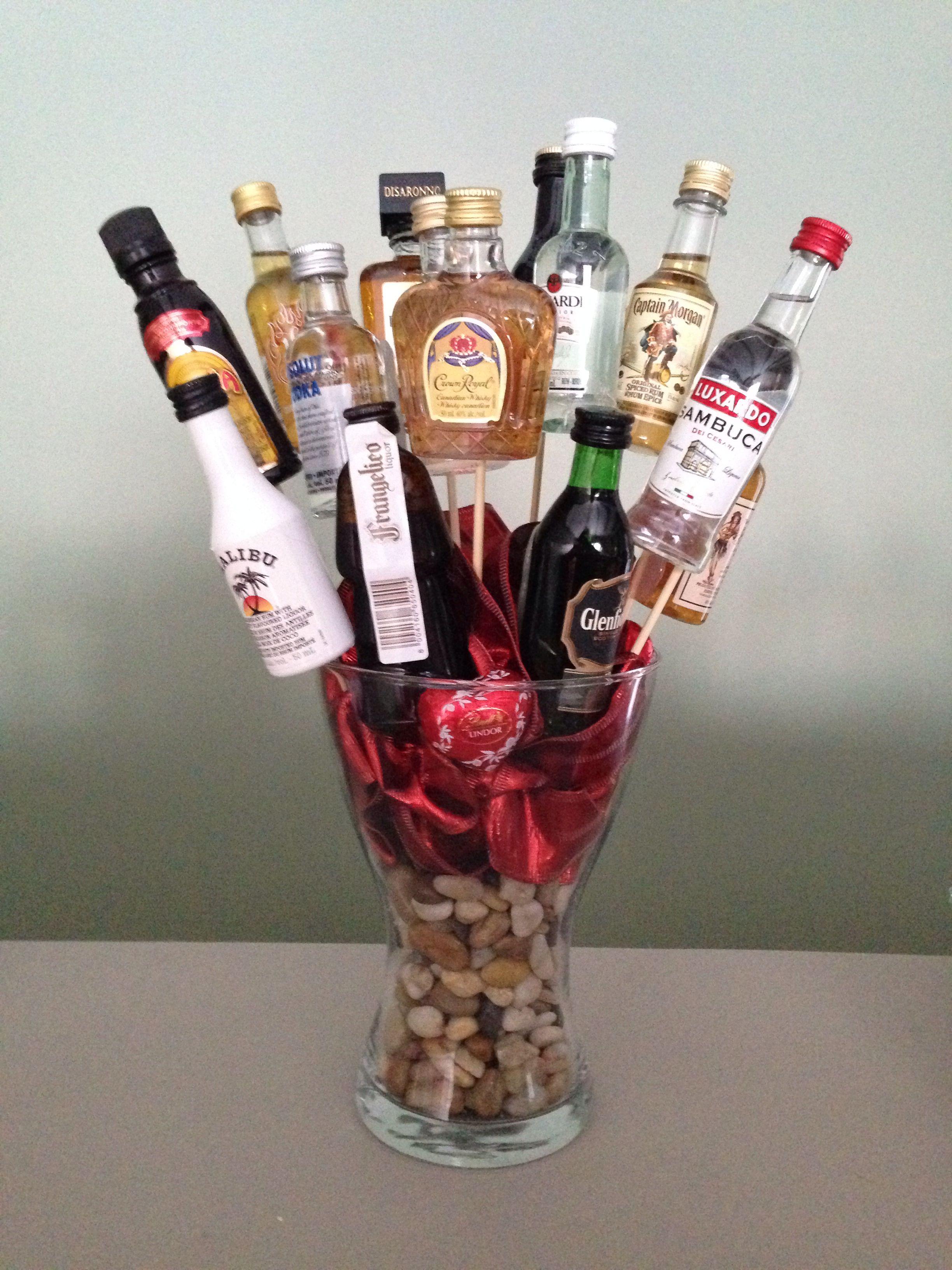 Mini Liquor Bouquet Mini Liquor Bottles Liquor Gifts Liquor Gift Baskets