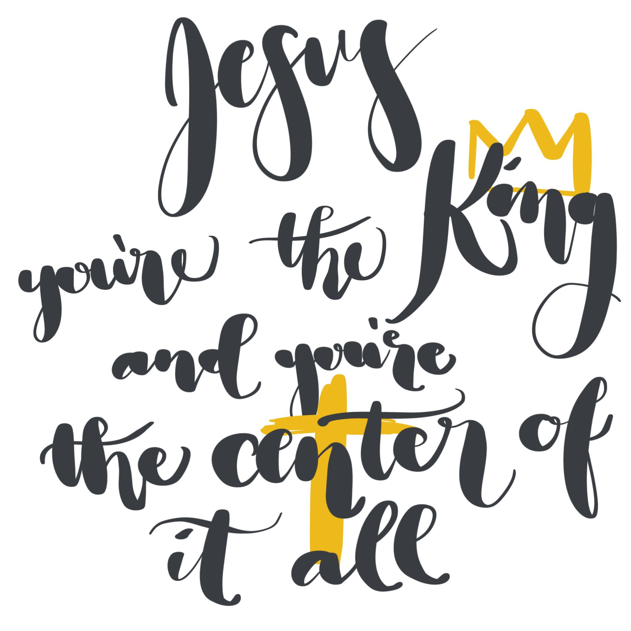 Jesus You Re The King And You Re The Center Of It All Bethel There Is A Name Christian Song Lyrics Christian Songs Album
