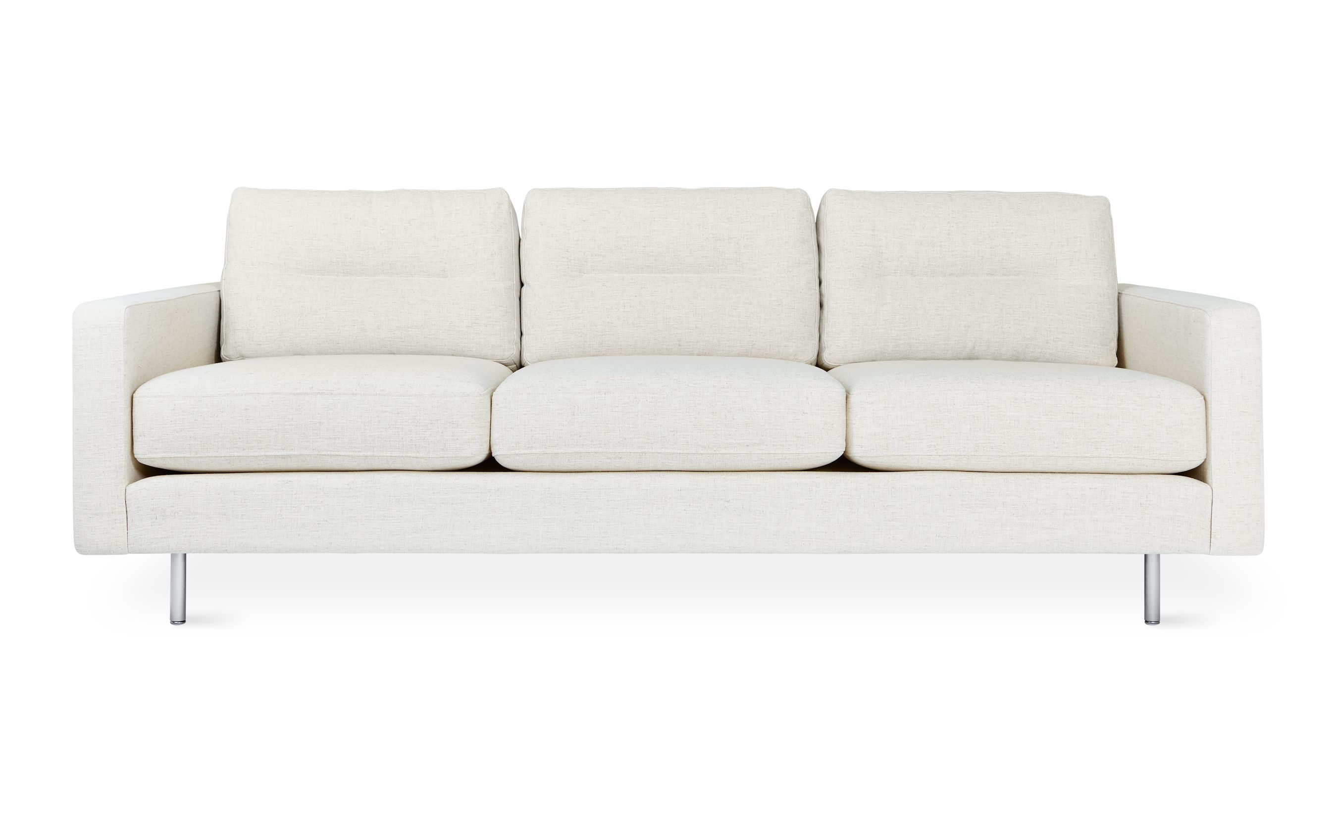 Fabulous Logan Sofa Stainless Base Huron Ivory Gus Modern Gus Beatyapartments Chair Design Images Beatyapartmentscom