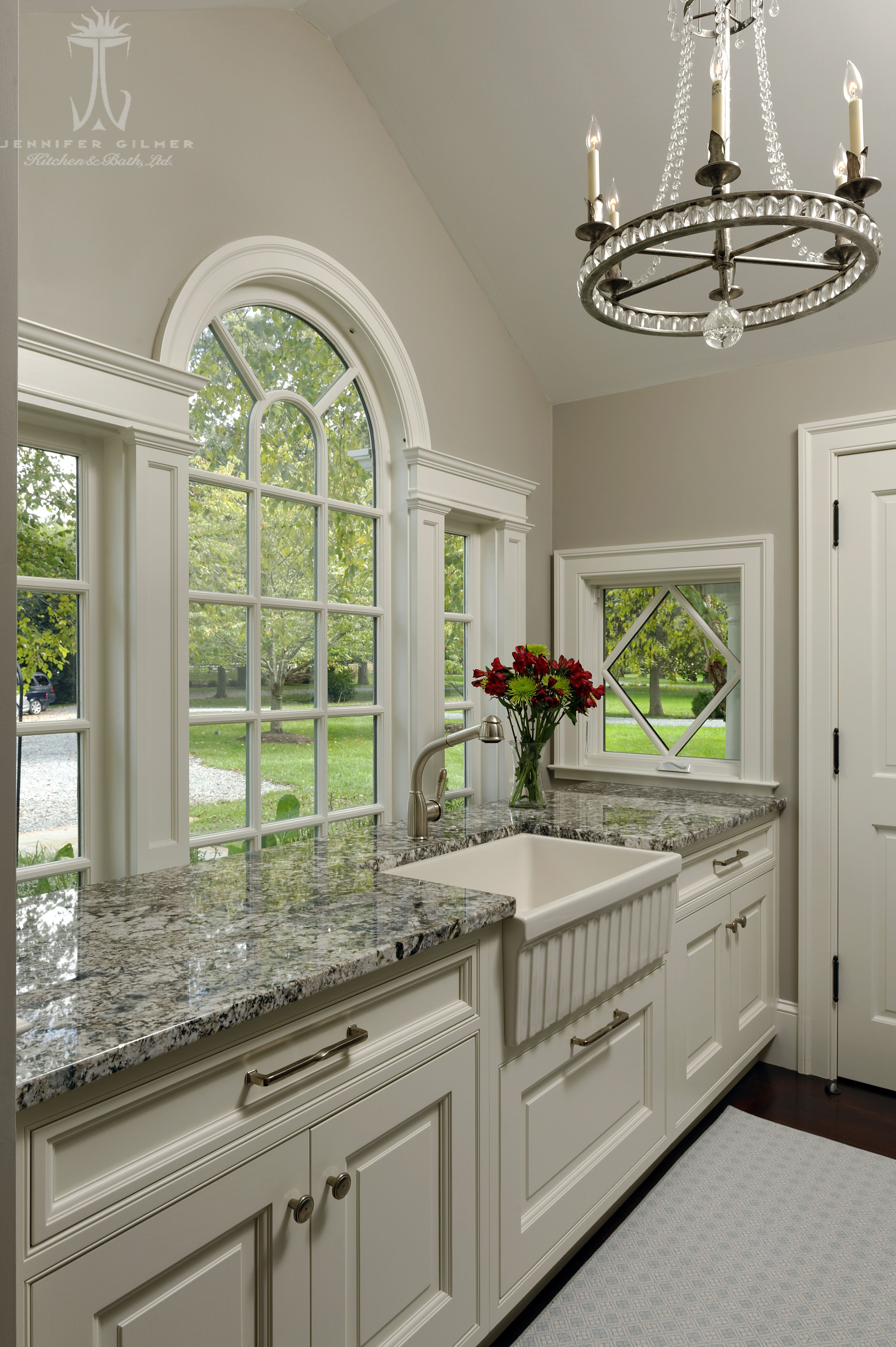 The Butler S Pantry Offers Copious Countertop Space And Great Storage The Palladian Window Is Kitchen Bathroom Remodel Kitchen Remodel Kitchen And Bath Design